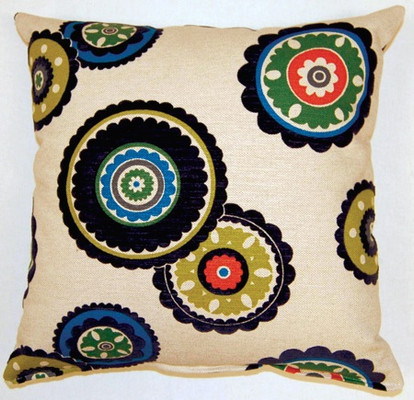 Rumi Throw Pillows (Set of 2) - Navy
