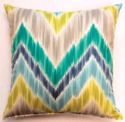 Tribal Find Throw Pillows (Set of 2) - Aquamarine