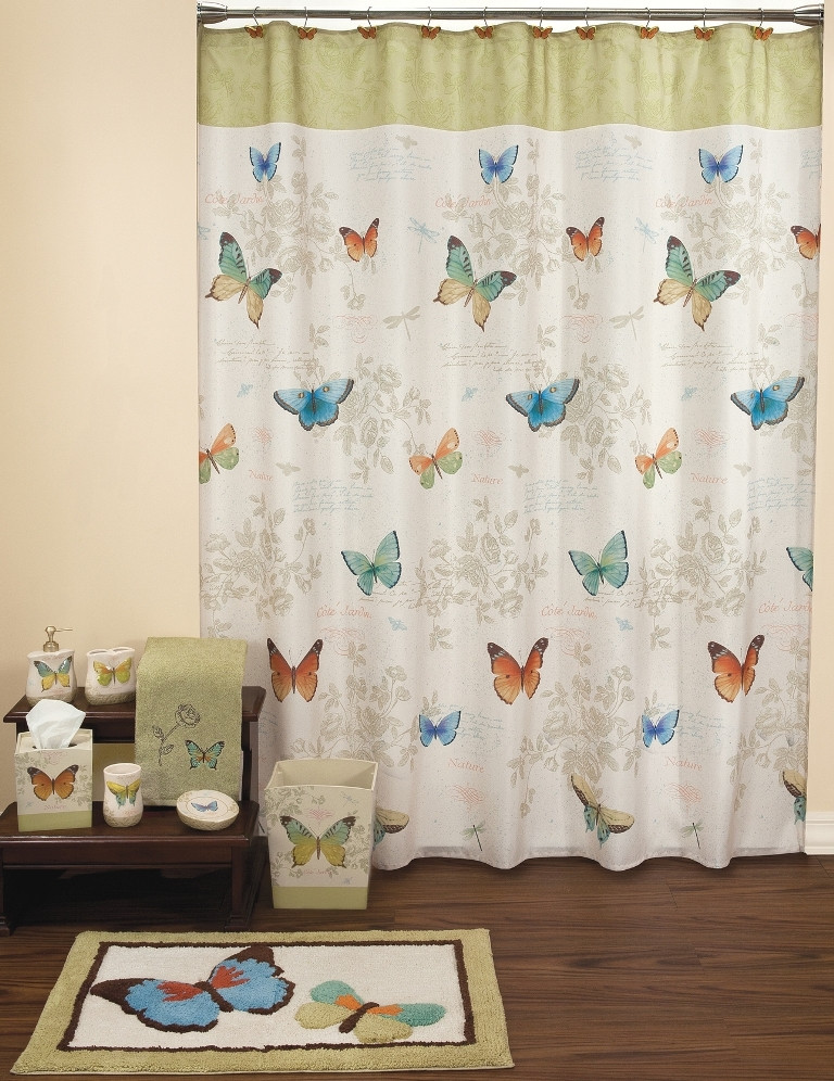 Butterfly Bliss Shower Curtain & Bathroom Accessories