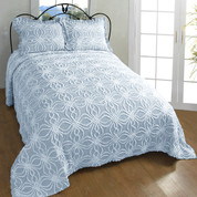 Rosa Chenille Bedspreads - Blue