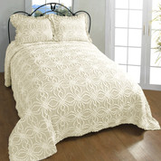 Rosa Chenille Bedspreads - Natural
