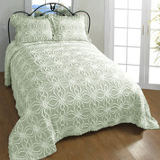 Rosa Chenille Bedspreads - Sage