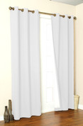 Weathermate Thermologic Grommet Top Curtain pair - White