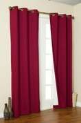 Weathermate Thermologic Grommet Top Curtain pair - Burgundy