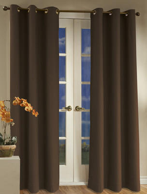 Weathermate Thermologic Grommet Top Curtain pair - Chocolate