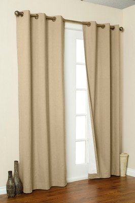 Weathermate Thermologic Grommet Top Curtain pair - Khaki