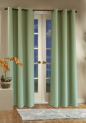 Weathermate Thermologic Grommet Top Curtain pair - Sage