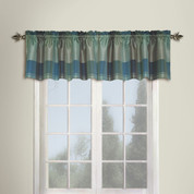 Plaid Valance - BLUE
