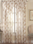 Water Lily Rod Pocket Curtain Panels - Available in Amethyst, Pink, Blue
