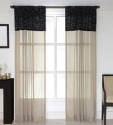 Westgate Rod Pocket Curtain Panels - Available in Chocolate, Black, Ivory