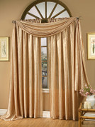 Whisper Crushed Satin Rod Pocket Curtain Panels - Available in White, Vanilla, Chocolate, Gold, Mist, Ruby, Silver, Black