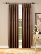 Gabrielle Thermal Pinch Pleated Drapes - Available in Ivory, Chocolate, Taupe, Sage, Crimson, Blue