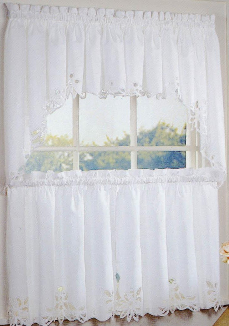 White Battenburg Curtains