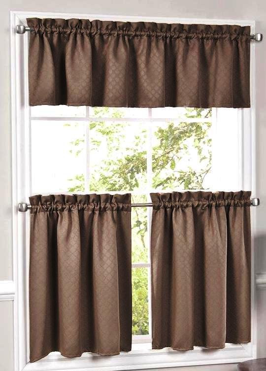 Facets Kitchen Curtains - Available in 3 colors
