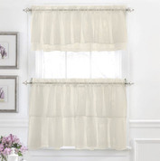 Gypsy Ruffled Kitchen Curtain - Cream