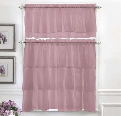 Gypsy Ruffled Kitchen Curtain - Lavender