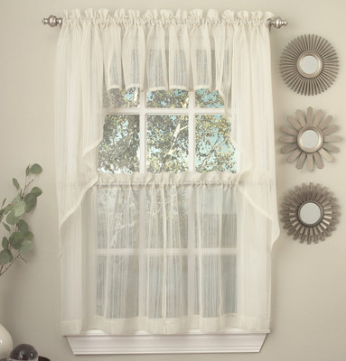 Harmony kitchen curtain ivory