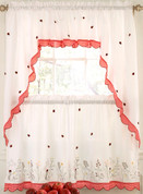 Ladybug Meadow embroidered kitchen curtain