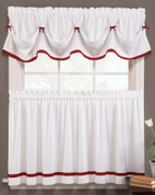 Kate Kitchen Curtain - Berry