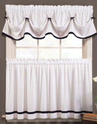 Kate Kitchen Curtain - Black