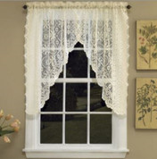 Hopewell Lace kitchen curtain Swag - White or Cream
