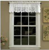 Hopewell Lace kitchen curtain Valance - White or Cream