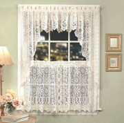 Hopewell Lace Kitchen Curtain - Cream