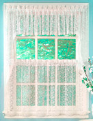 Priscilla Lace Kitchen Curtain - Available in White or Ivory