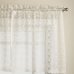 "Priscilla Lace 24"" Kitchen Curtain tier - Ivory"