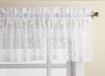 Priscilla Lace Kitchen Curtain valance - White