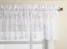 Priscilla Lace Kitchen Curtain valance - White