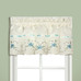 Rachael Embroidered Kitchen Curtain valance - Blue