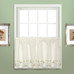 Rachael Embroidered Kitchen Curtain tier - Taupe