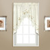 Rachael Embroidered Kitchen Curtain swag - Taupe