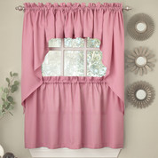 Ribcord blush pink kitchen curtain from Lorraine Home Fashions