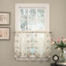 Rosemary embroidered kitchen curtain tier from Lorraine Home Fashions