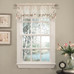 Rosemary embroidered kitchen curtain valance from Lorraine Home Fashions