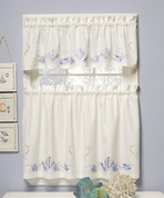 Seabreeze Embroidered Valance - Available in Ocean or Sand