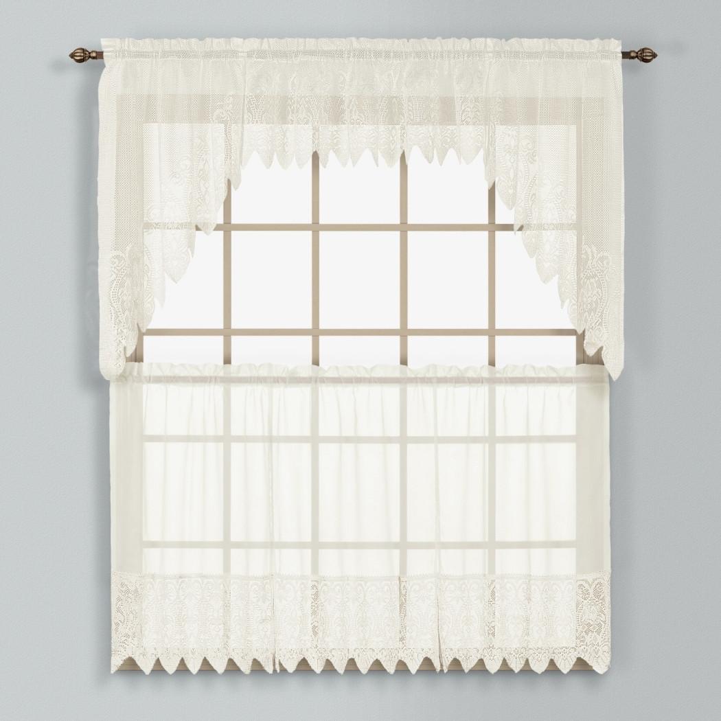Valerie Macrame Kitchen Curtain Natural Linens4less Com