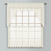 Valerie Macrame Kitchen Curtain - Natural