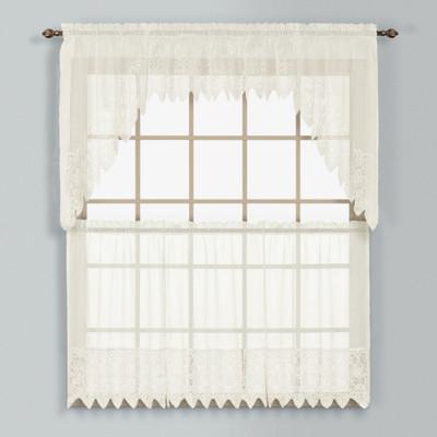 Valerie Macrame Kitchen Curtain - Natural