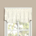 Vienna Eyelet Kitchen Curtain valance - Natural