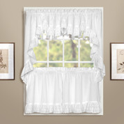 Vienna Eyelet Kitchen Curtain - White