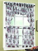Wine Country sheer kitchen curtain