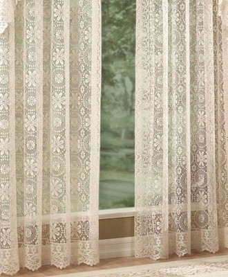 Hopewell Lace Rod Pocket Curtain from Lorraine Home