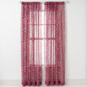 Cheetah Rod Pocket Curtain - Pink