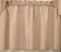 "Seersucker 24"" kitchen curtain tier - Linen"