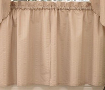 "Seersucker 36"" kitchen curtain tier - Linen"