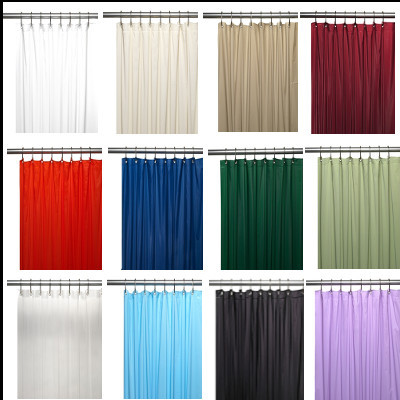 Bulk Case Pack Vinyl Shower Curtain Liner 4 gauge