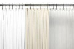 Bulk Case Pack (24 pcs @ $9.34 ea) Vinyl Mildew Resistant Shower Curtain Liner - 10 gauge in white, bone, clear